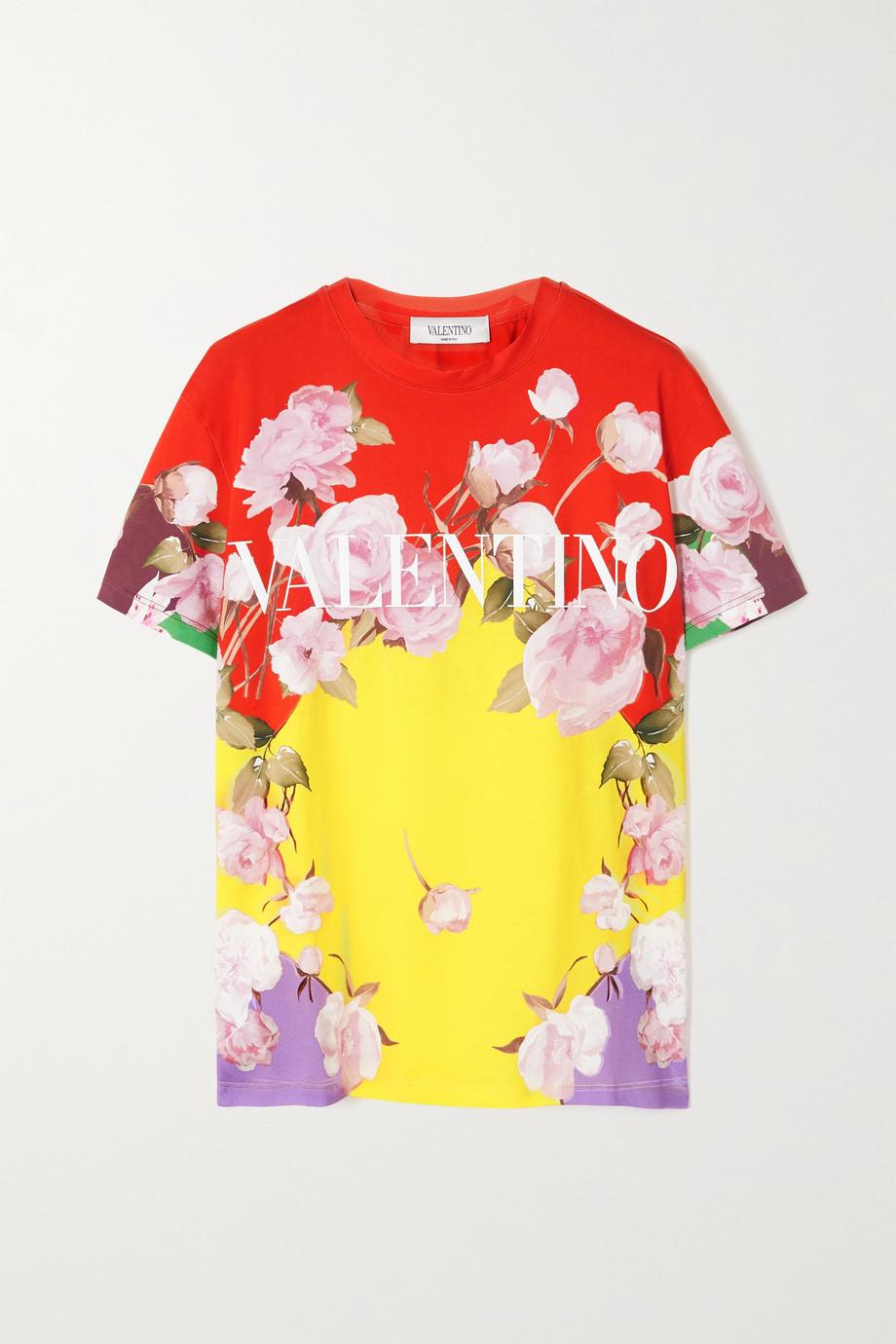 Valentino T-shirt en jersey de coton imprimé