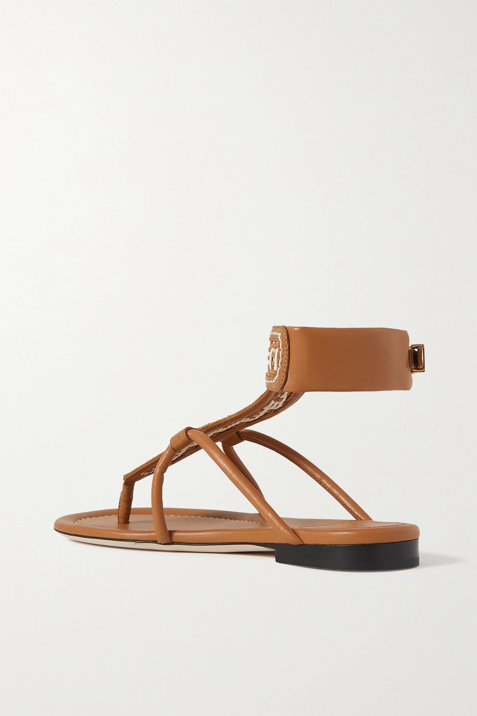 Fendi Woven leather sandals