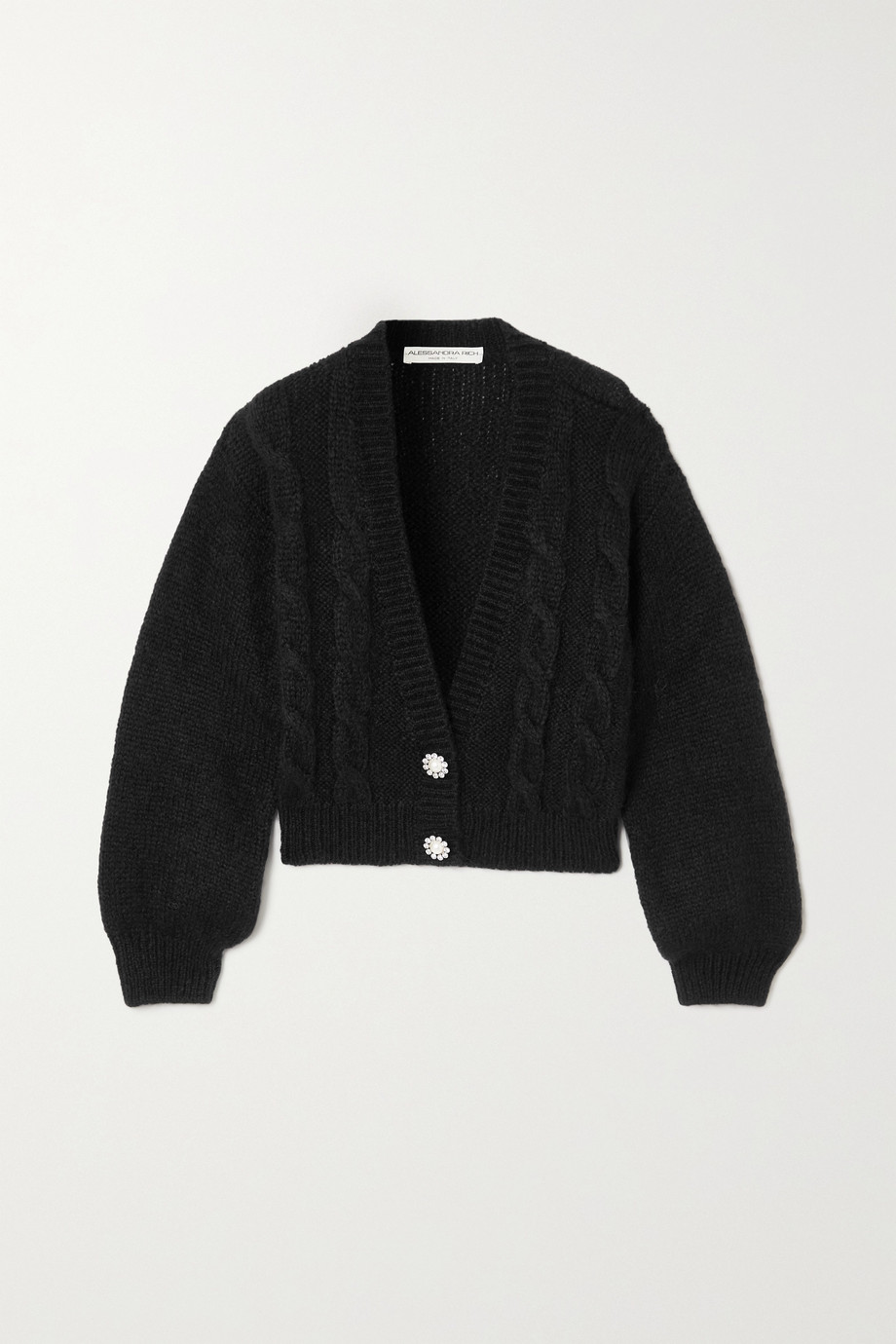 Alessandra Rich Cropped cable-knit cardigan