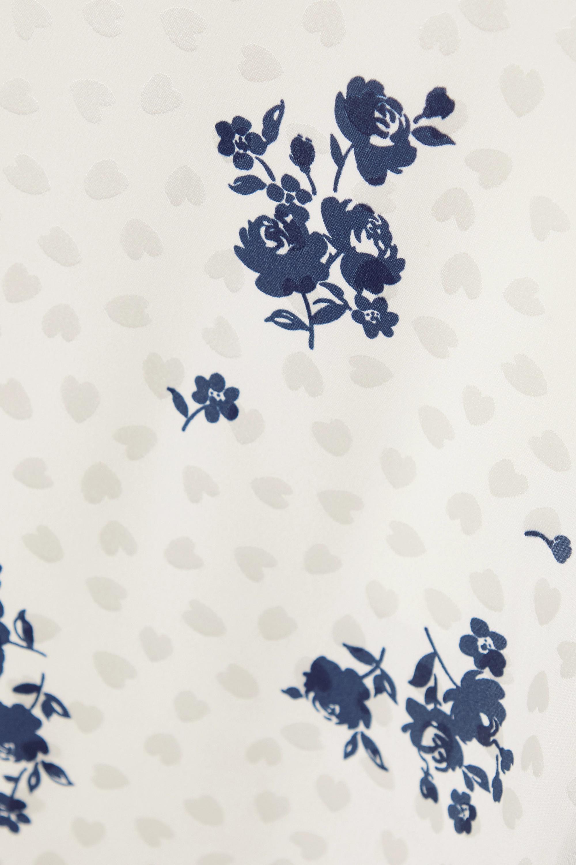 Alessandra Rich Jupe midi en jacquard de soie à imprimé fleuri