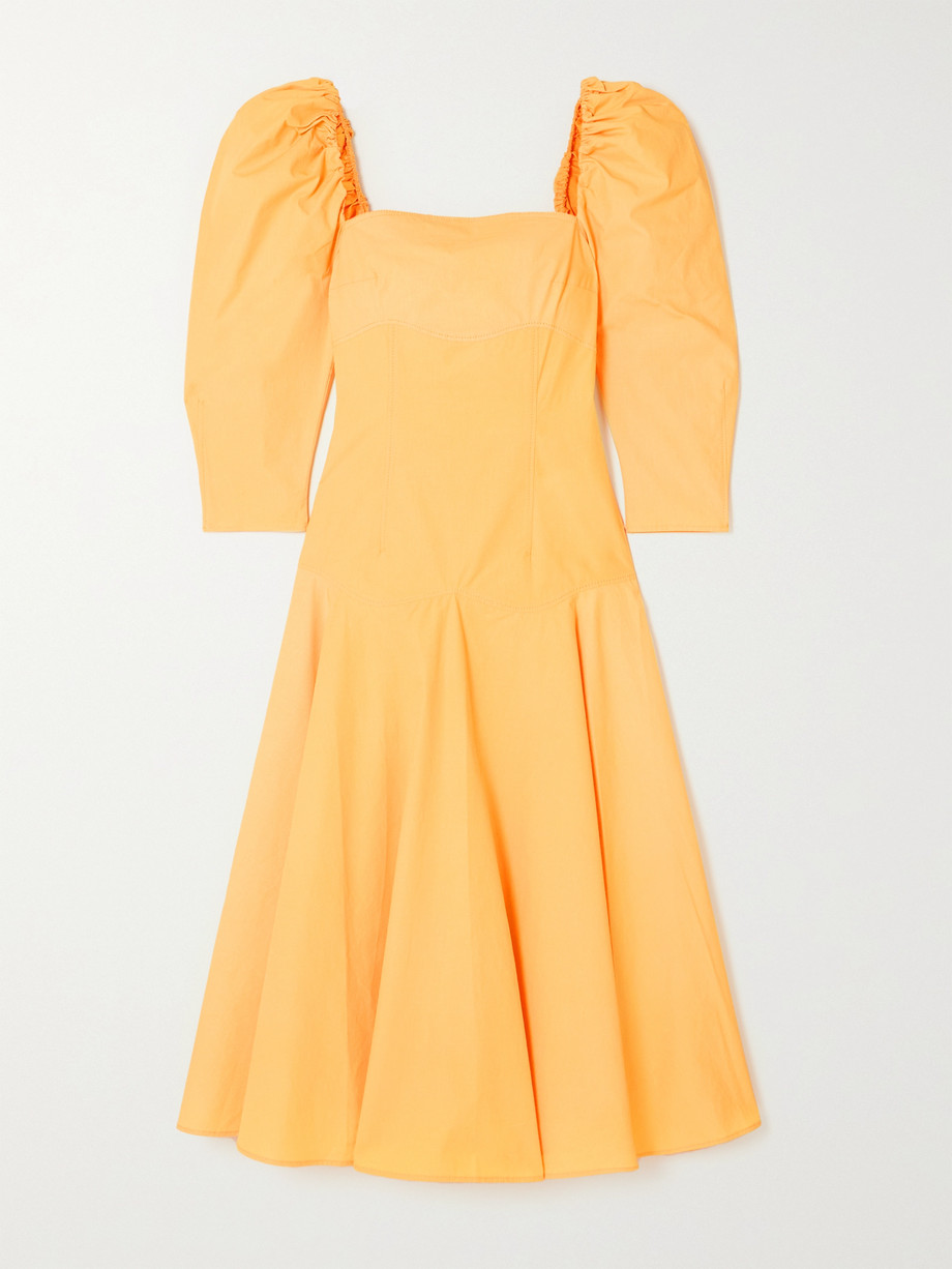 REJINA PYO + NET SUSTAIN Celeste organic cotton-poplin midi dress