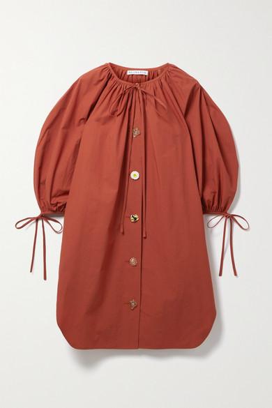 Rejina Pyo SCOUT TIE-DETAILED COTTON-POPLIN MINI DRESS