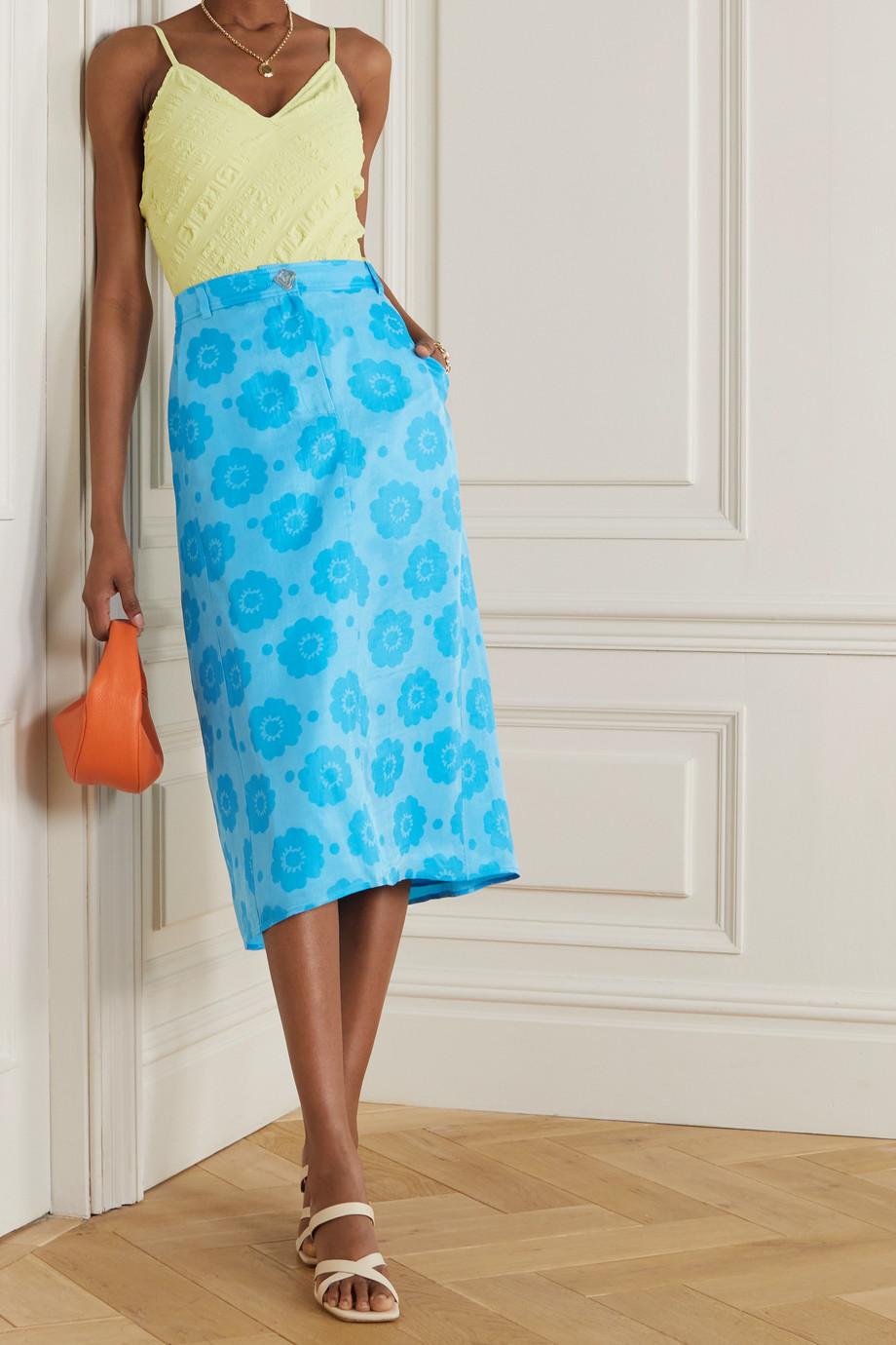 REJINA PYO + NET SUSTAIN Eunice printed Fillsens Lyocell midi skirt