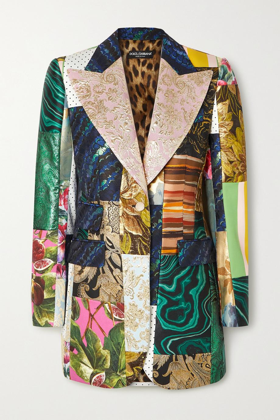 Dolce & Gabbana Patchwork jacquard, brocade and twill blazer