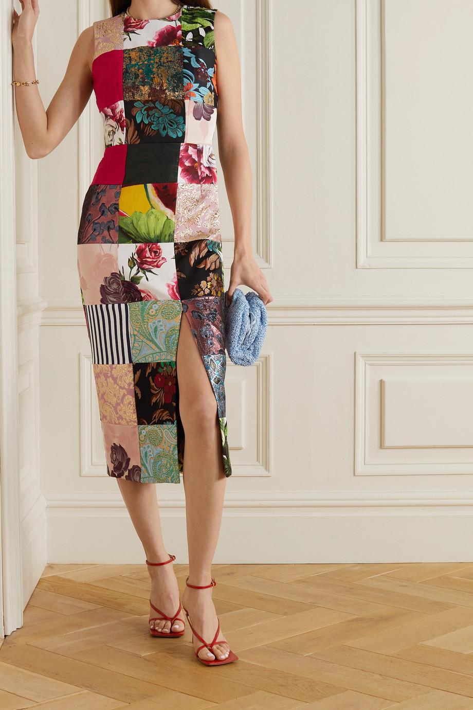 Dolce & Gabbana Patchwork jacquard, brocade and twill midi dress