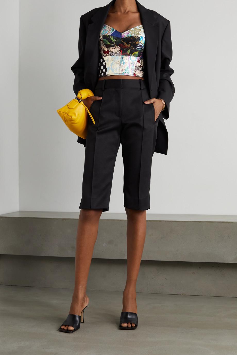 Dolce & Gabbana Haut façon corset patchwork en jacquard, jean et serge