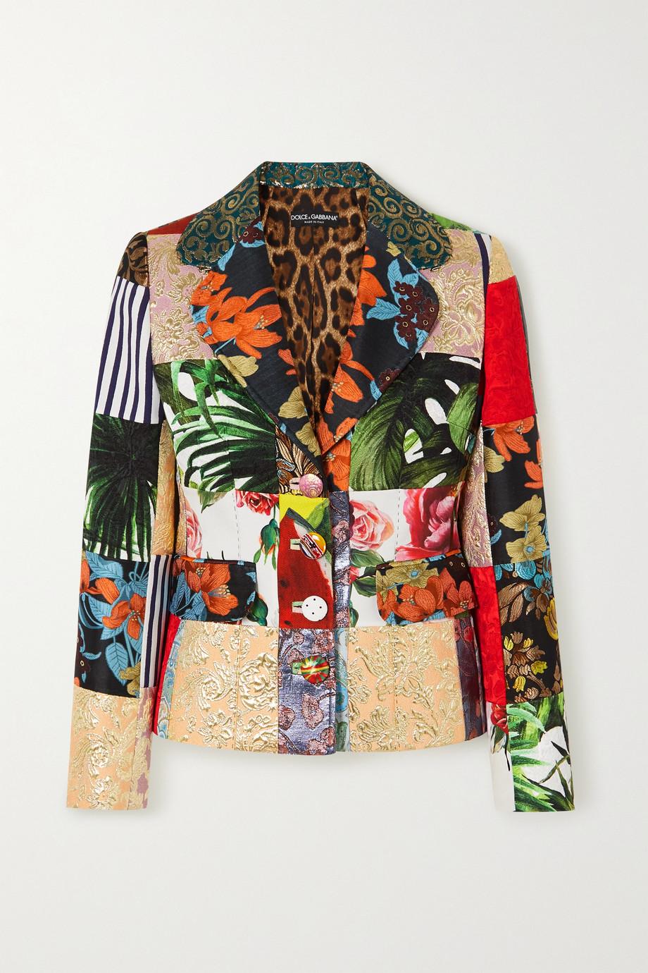 Dolce & Gabbana Patchwork paneled jacquard blazer