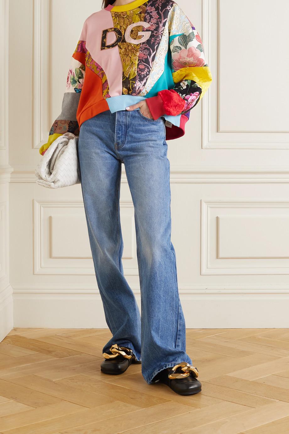 Dolce & Gabbana Sweat oversize patchwork en jacquard, brocart et jersey