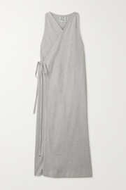Baserange Ribbed organic cotton wrap dress