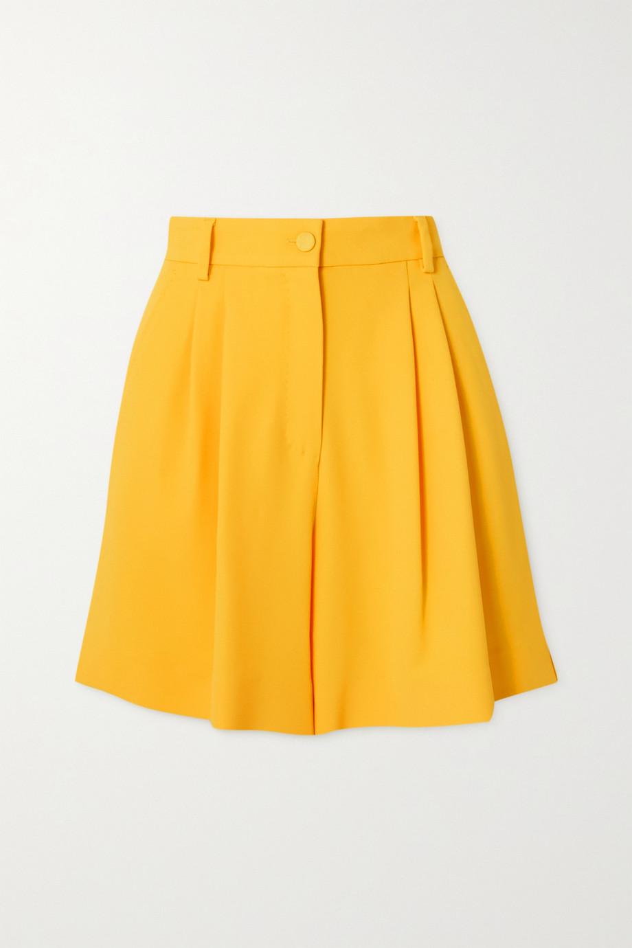 Dolce & Gabbana Short en crêpe à plis