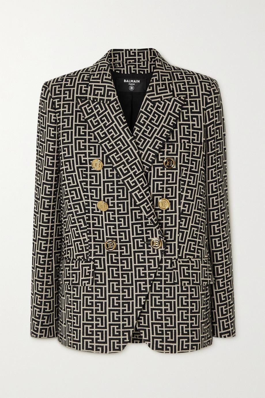 Balmain Double-breasted wool-jacquard blazer