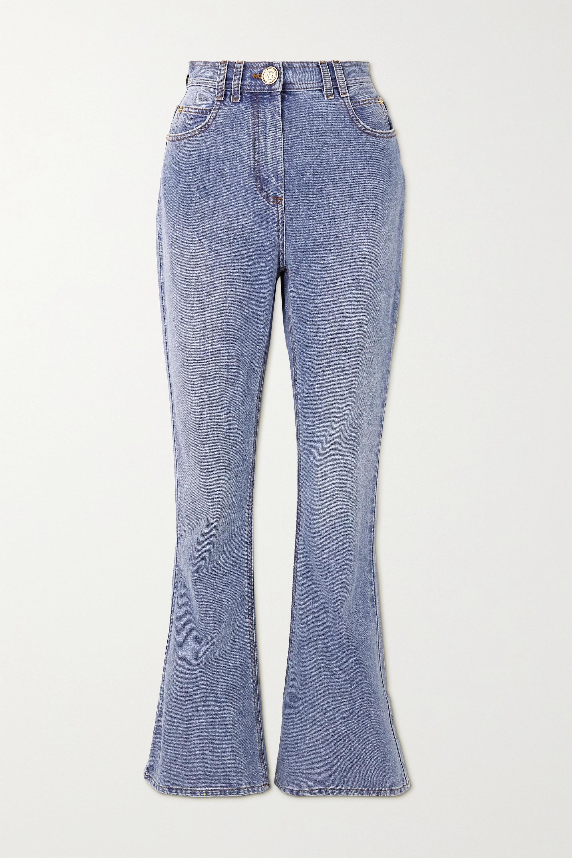 Balmain - High-rise bootcut jeans