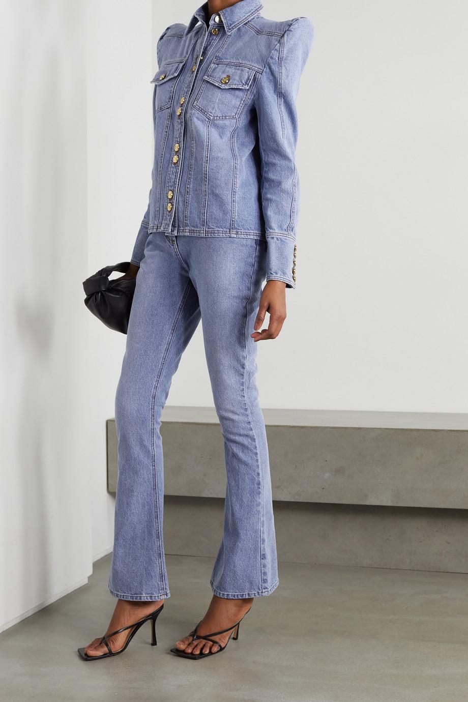 Balmain High-rise bootcut jeans