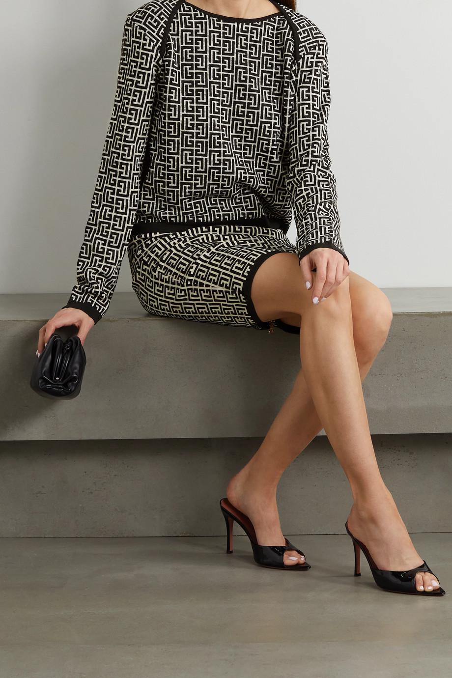 Balmain Pullover aus Jacquard-Strick aus einer Wollmischung