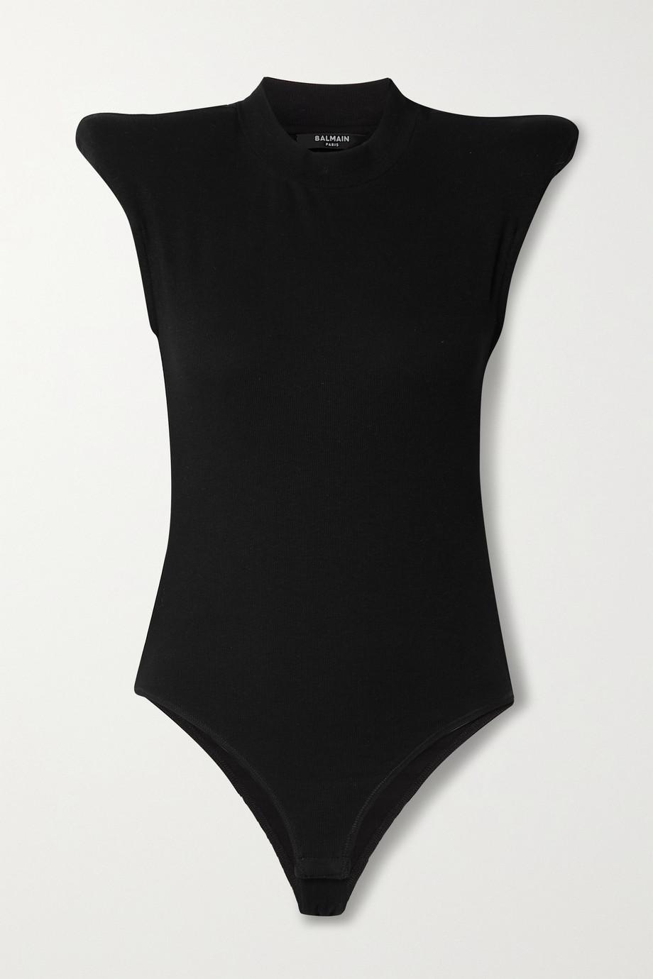 Balmain Ribbed stretch-cotton jersey bodysuit