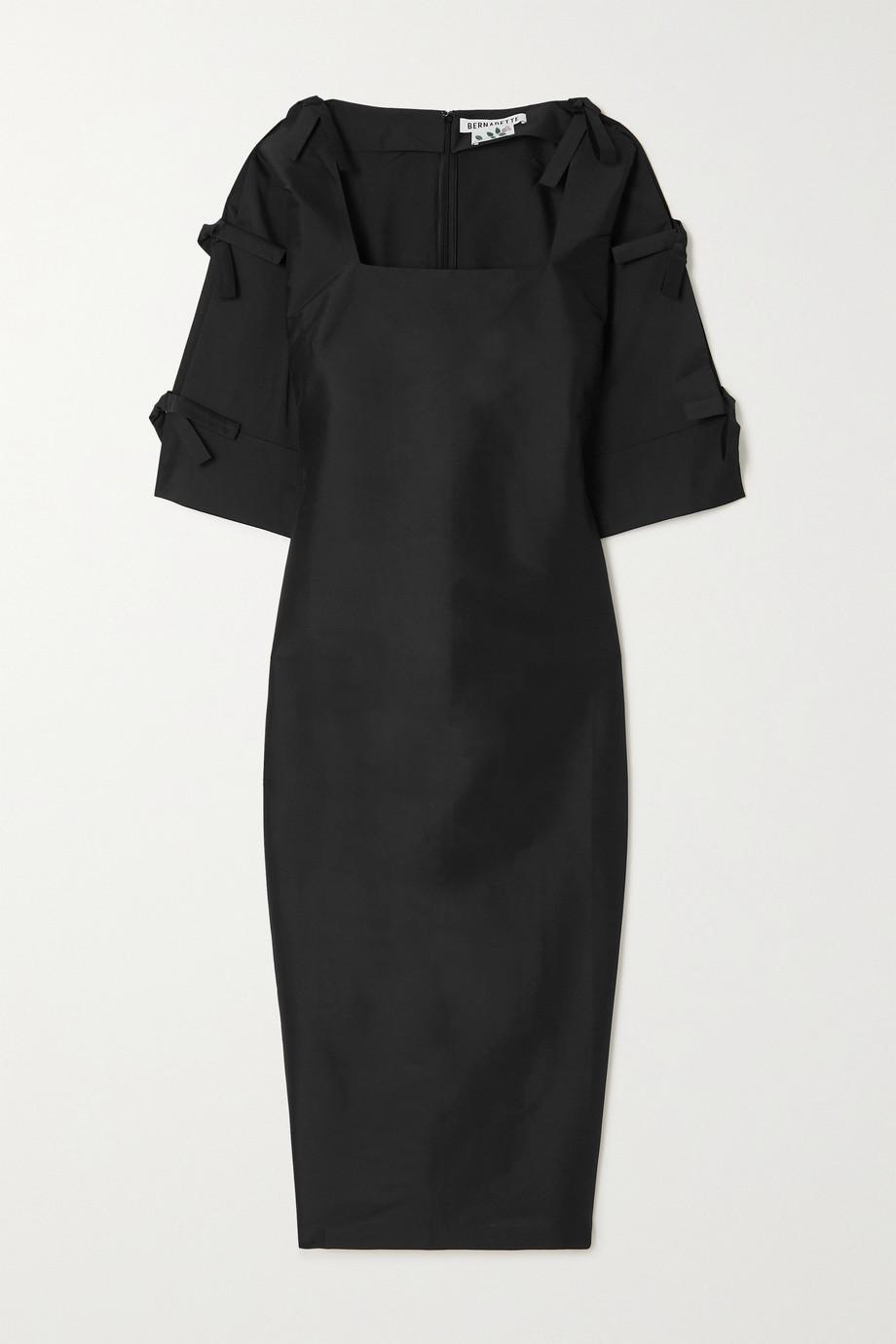BERNADETTE Chloe bow-embellished crepe maxi dress