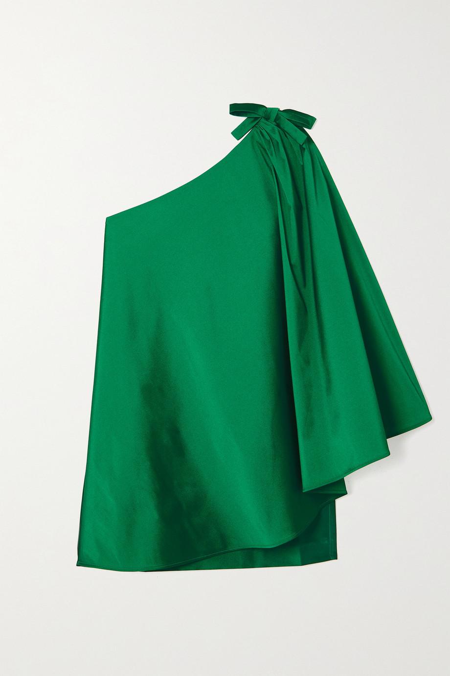 BERNADETTE Benedicte Minikleid aus Taft mit asymmetrischer Schulterpartie und  Cape-Effekt