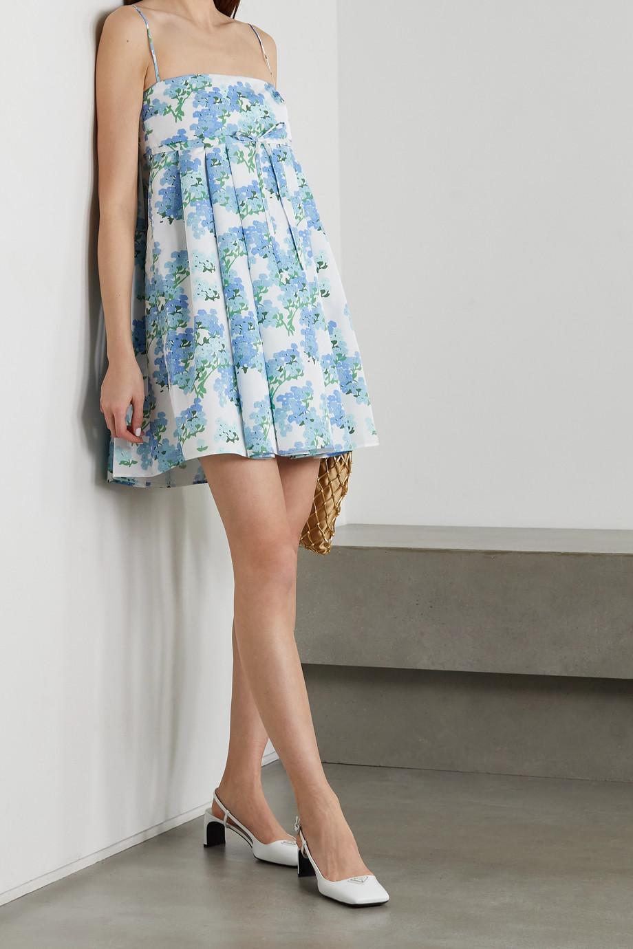 BERNADETTE Jules Minikleid aus Taft mit Blumenprint