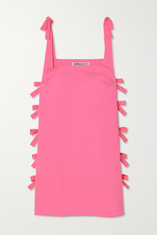BERNADETTE Mini-robe en taffetas à nœuds Lisa