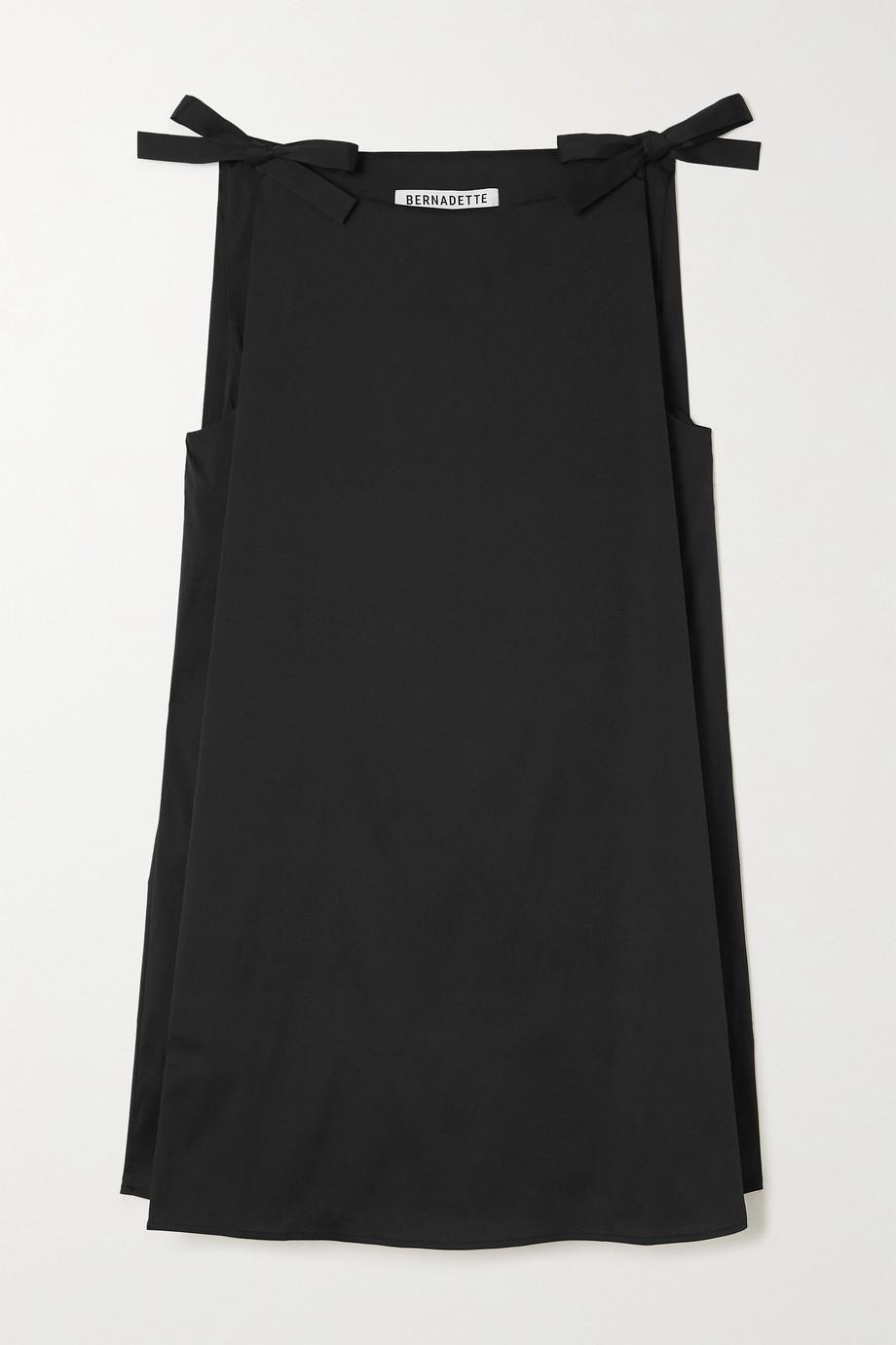 BERNADETTE Mary tie-detailed woven mini dress