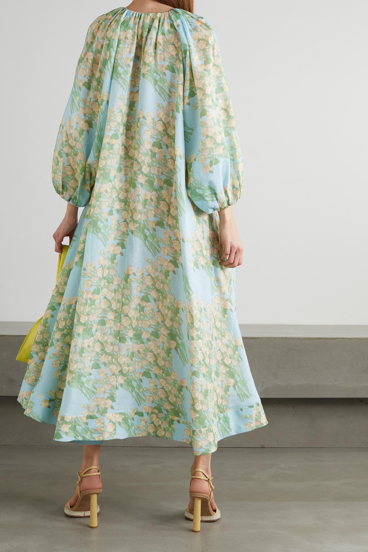 BERNADETTE Robe du soir en lin à imprimé fleuri Georgette