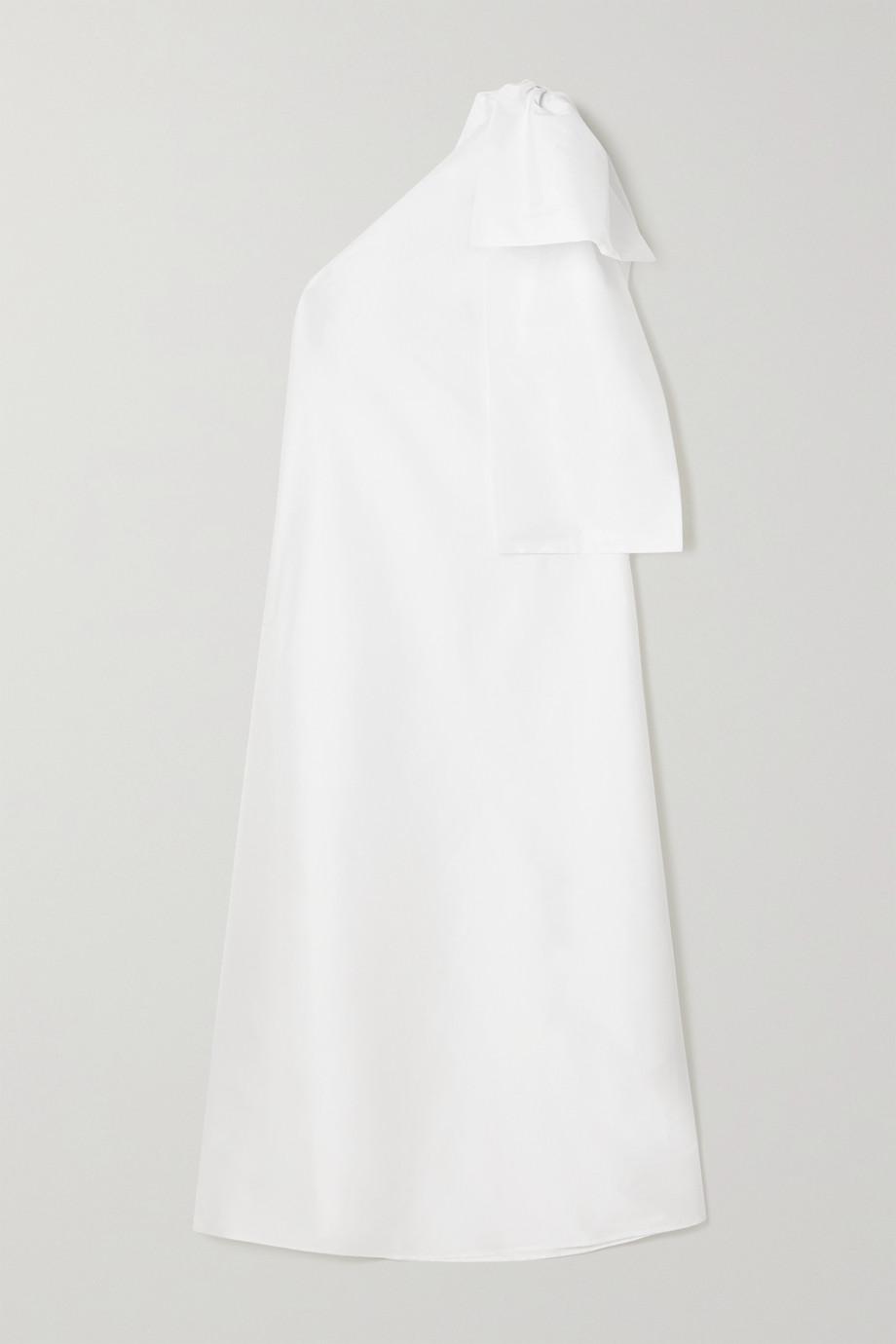 BERNADETTE Winnie Robe aus Taft mit asymmetrischer Schulterpartie und Schleife