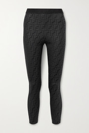 Fendi Embossed stretch leggings
