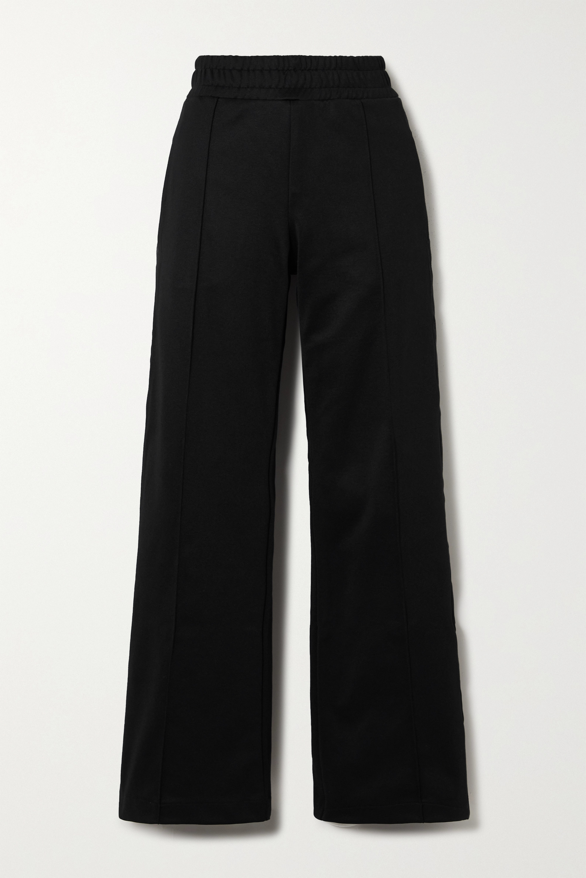 Fendi Jersey-piqué wide-leg track pants