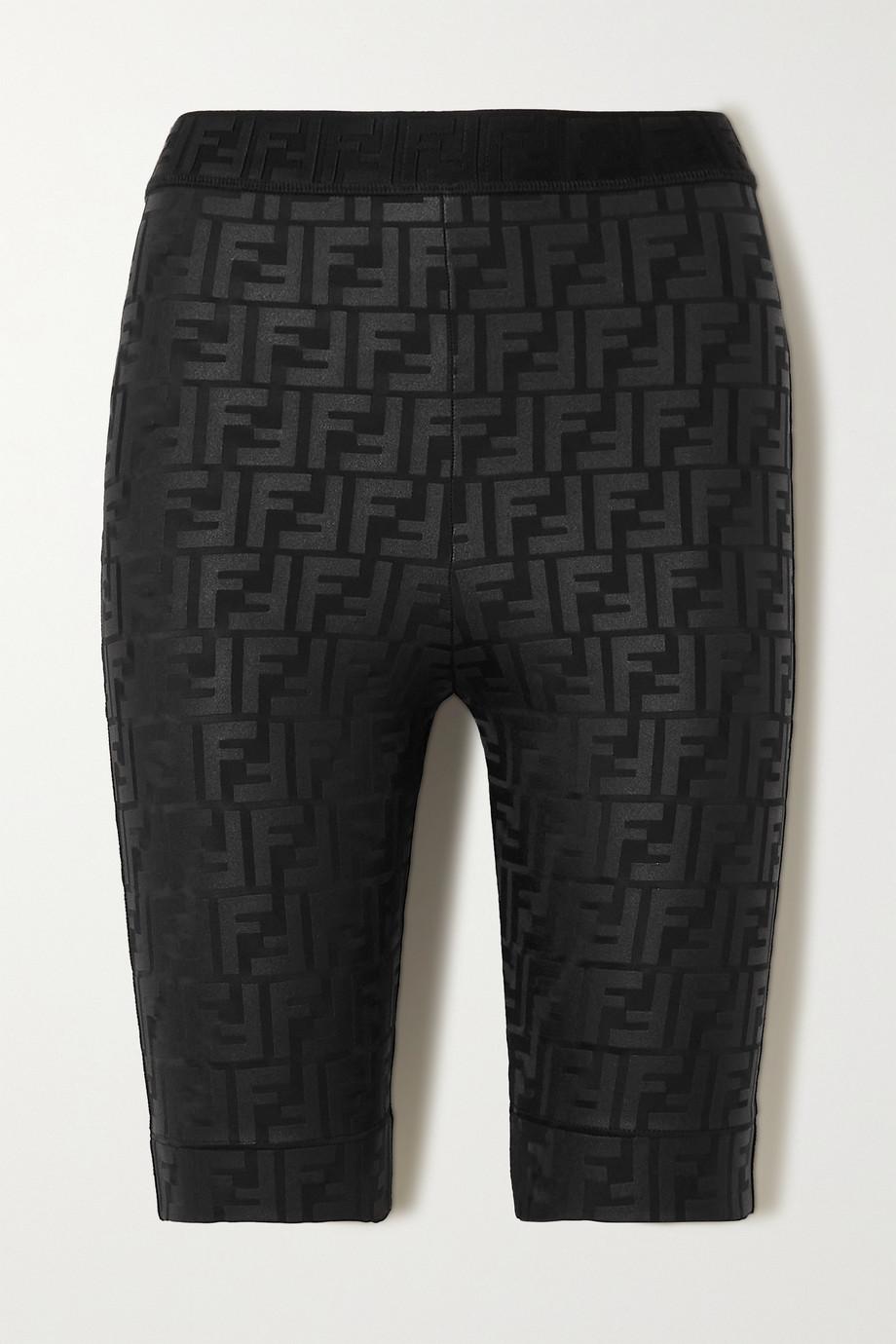 Fendi Shorts aus Stretch-Material mit Prägungen