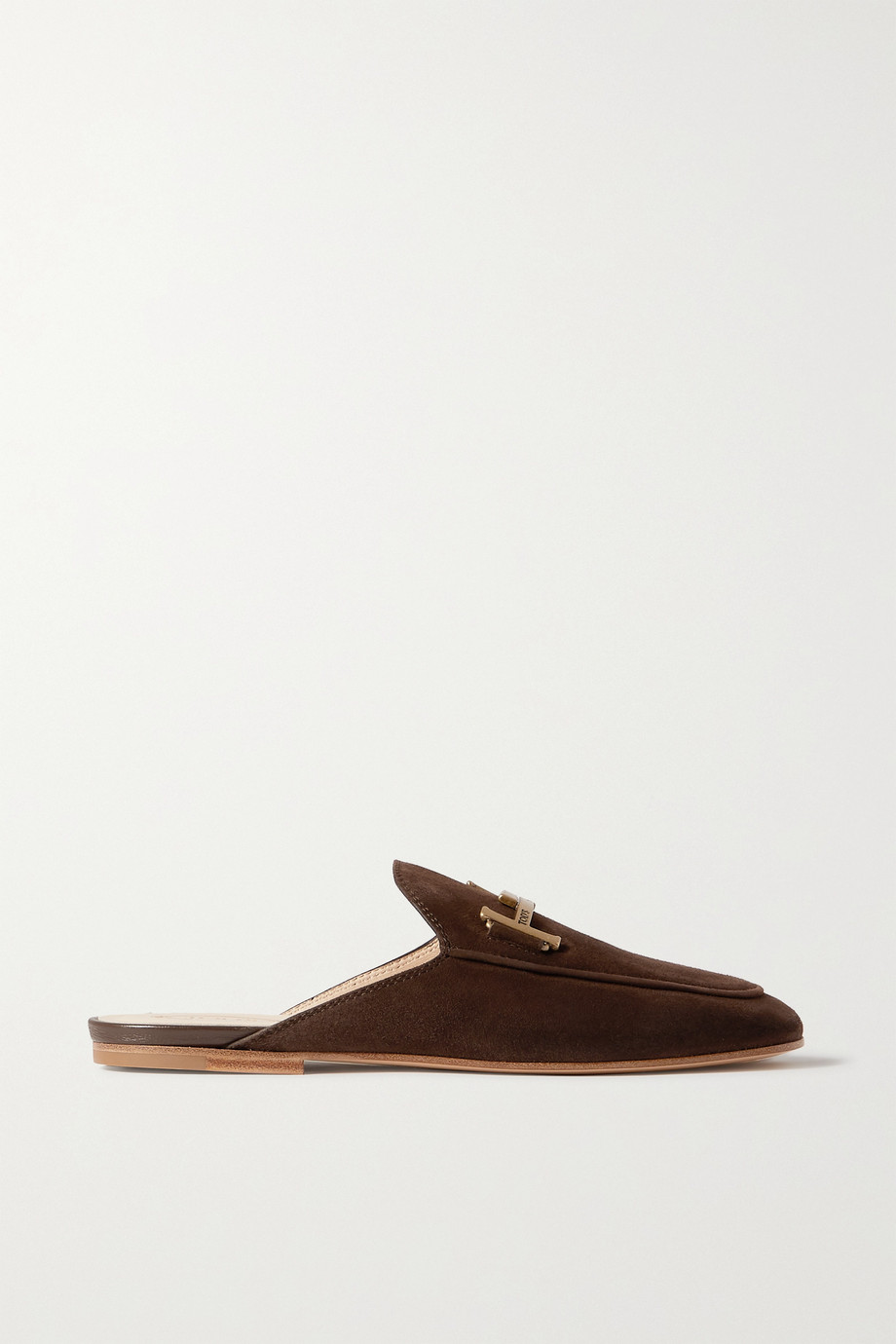 Tod's Embellished suede slippers