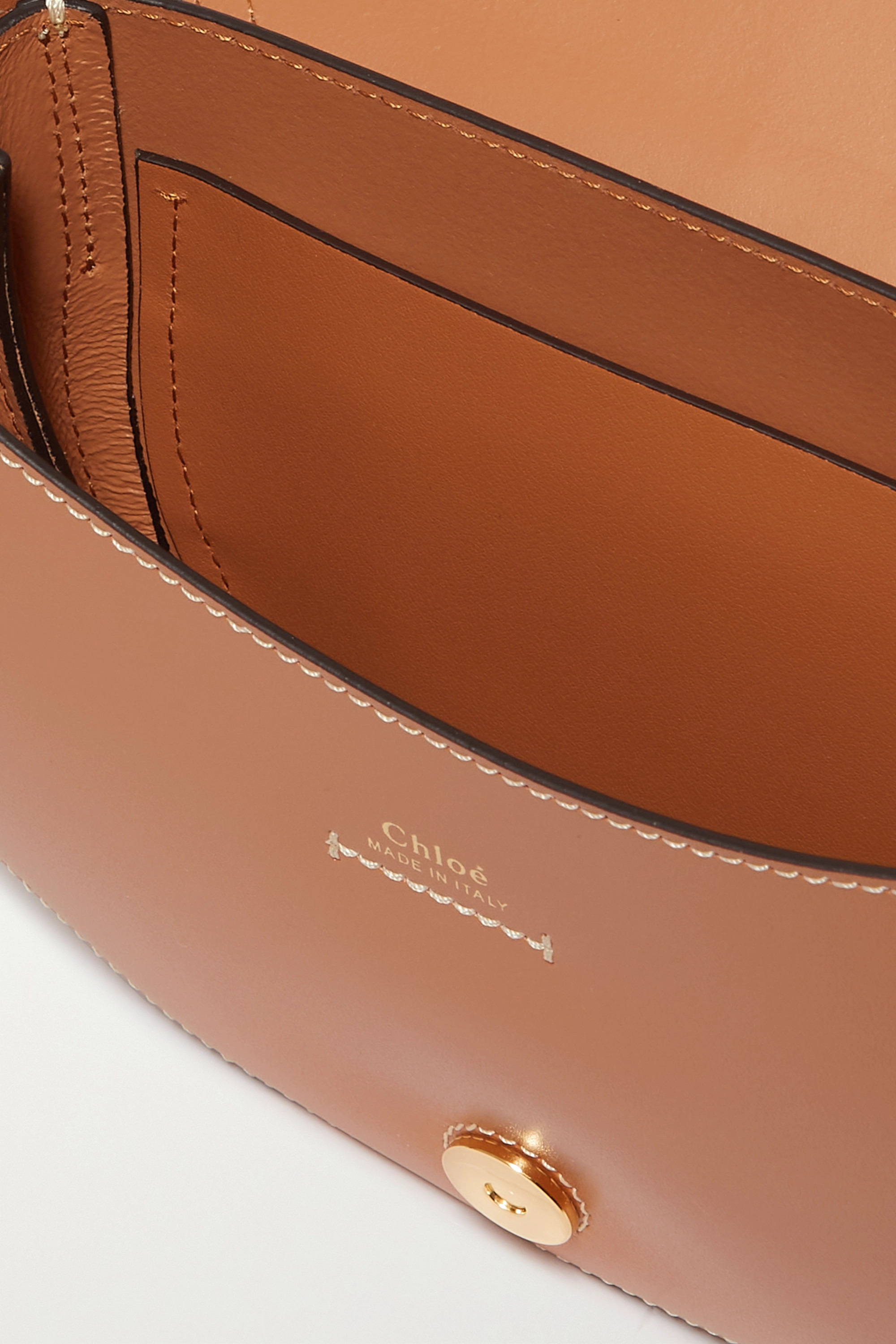Chloé Darryl small leather and suede shoulder bag