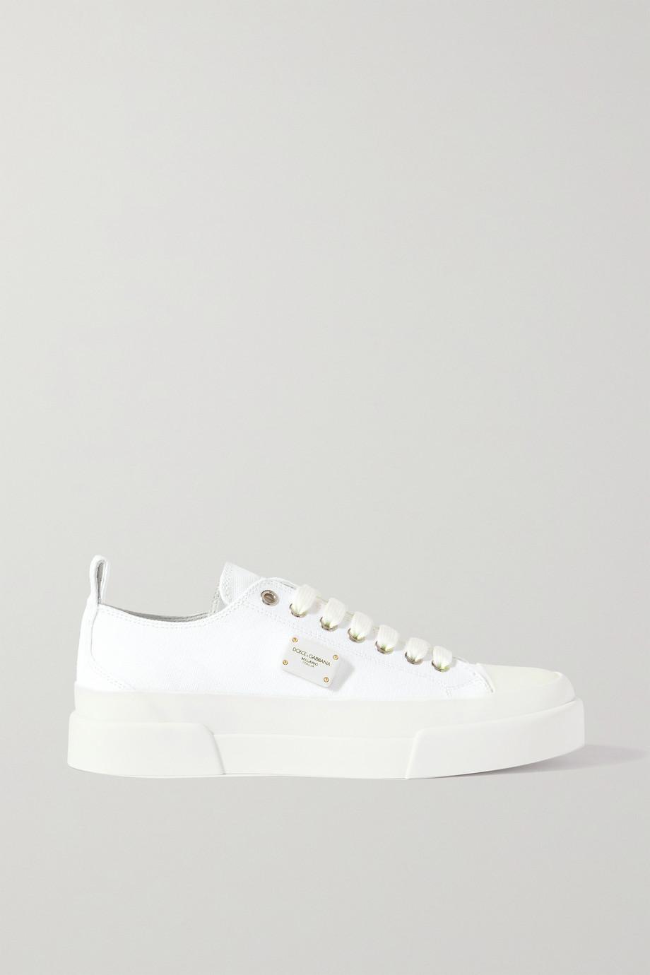 Dolce & Gabbana Portofino Light logo-embellished leather-trimmed canvas sneakers