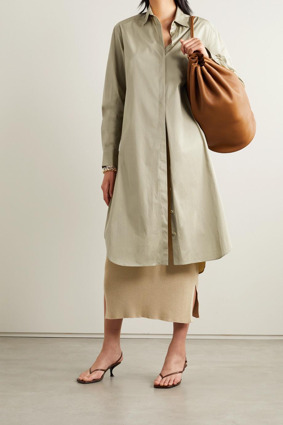 The Row Sunny cotton-poplin midi shirt dress