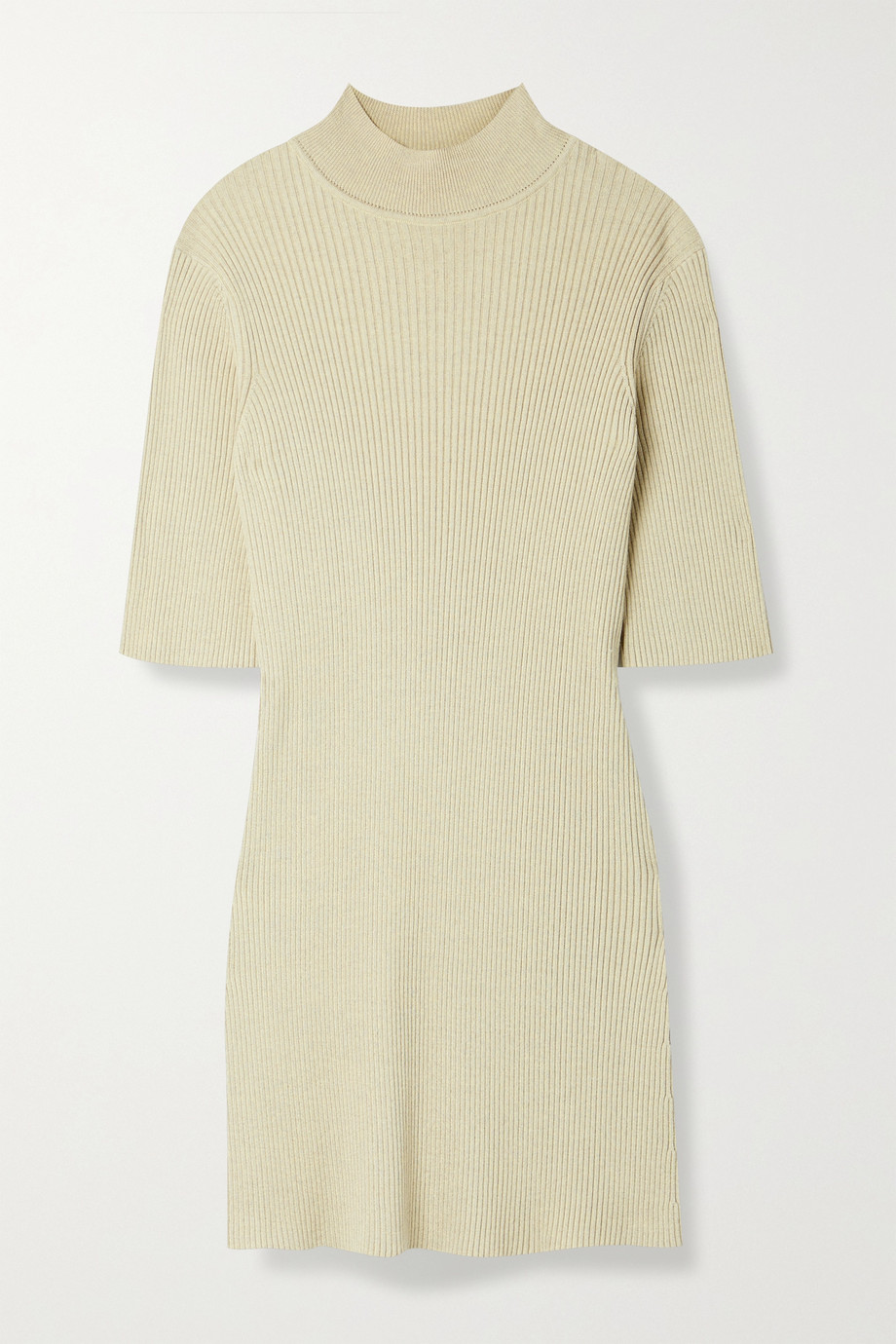 The Row Cassiopea ribbed silk and cotton-blend top