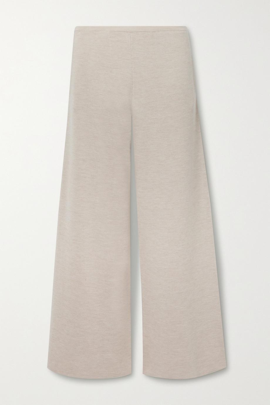 The Row Chuk merino wool and silk-blend wide-leg pants