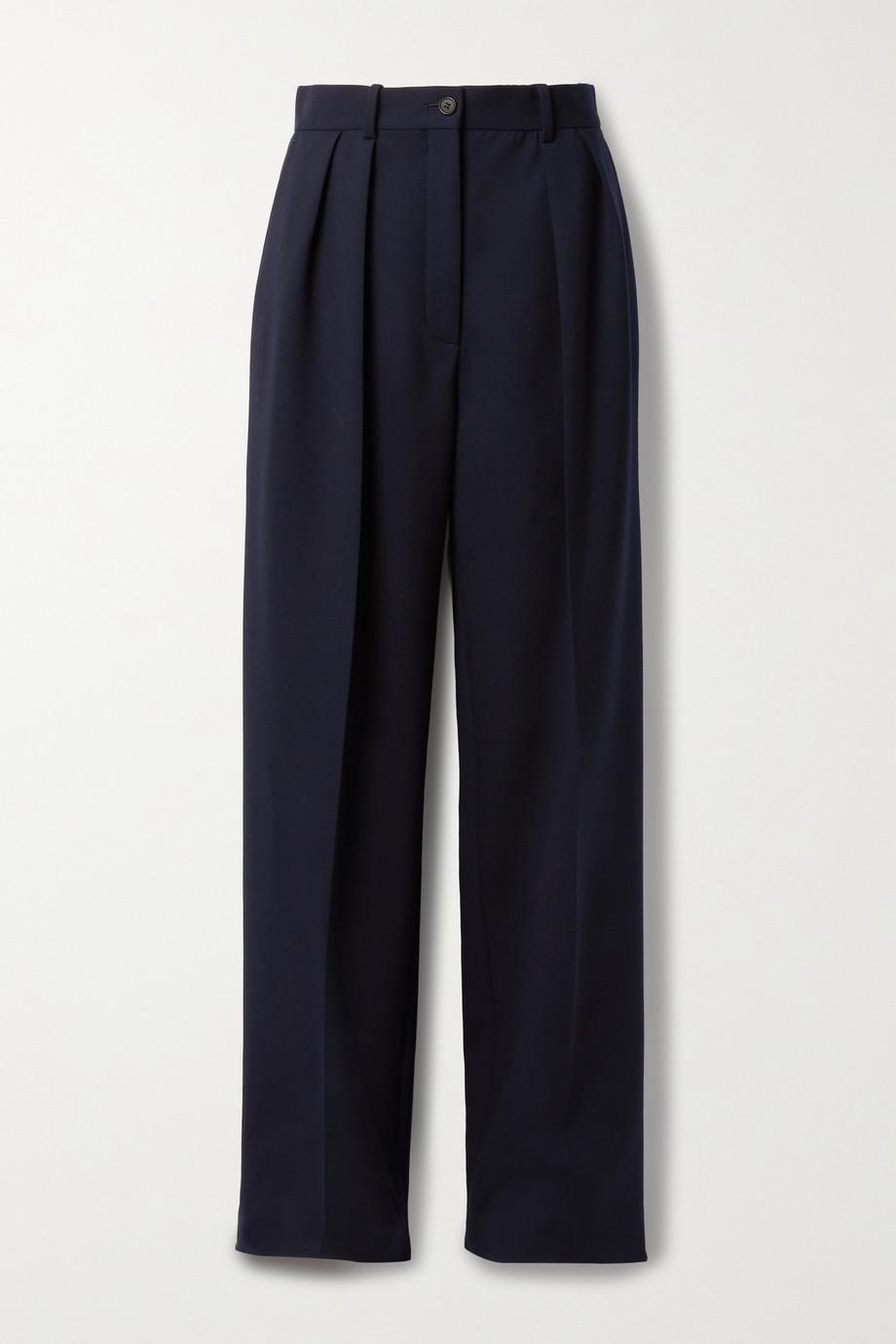 The Row Igor pleated wool-blend wide-leg pants
