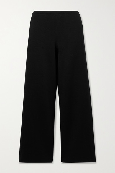 The Row CHUK MERINO WOOL AND SILK-BLEND WIDE-LEG PANTS