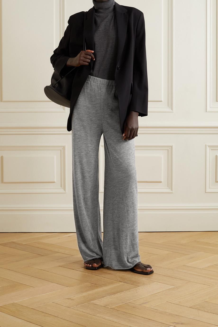 The Row Caleti cashmere wide-leg pants