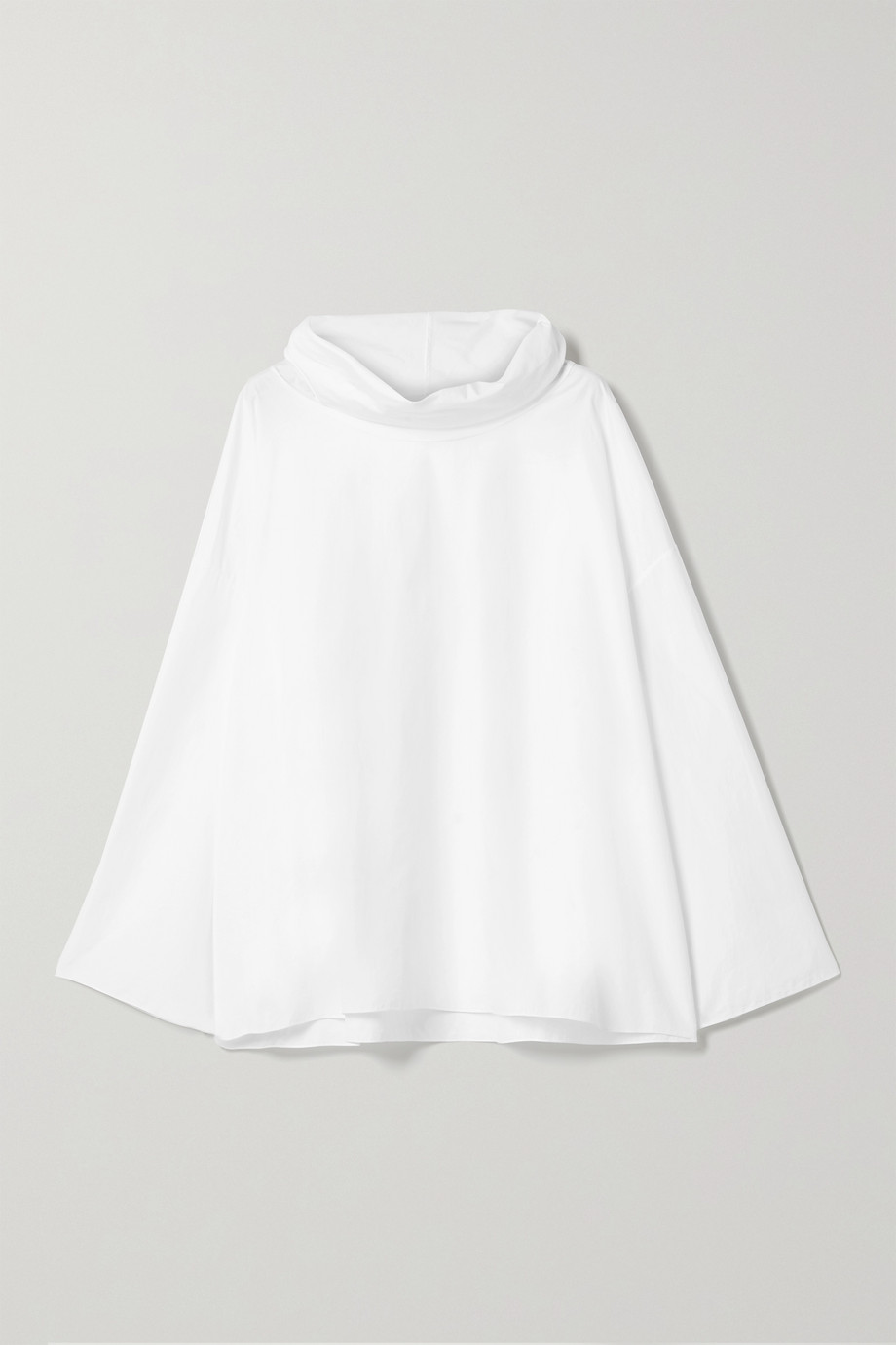 The Row Gasly draped cotton-poplin top