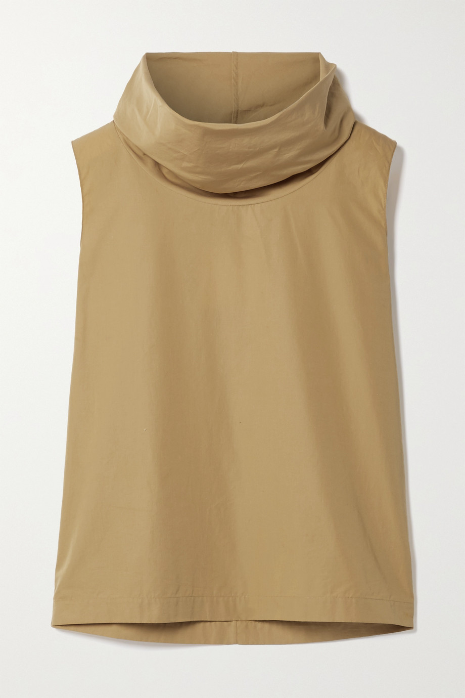 The Row Gayla draped cotton-poplin top