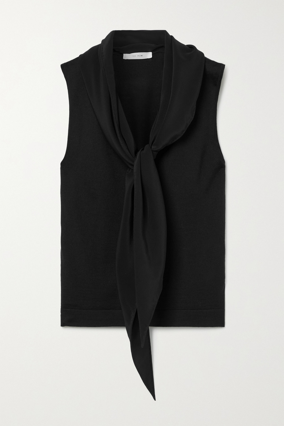 The Row Charis cashmere and silk-blend top