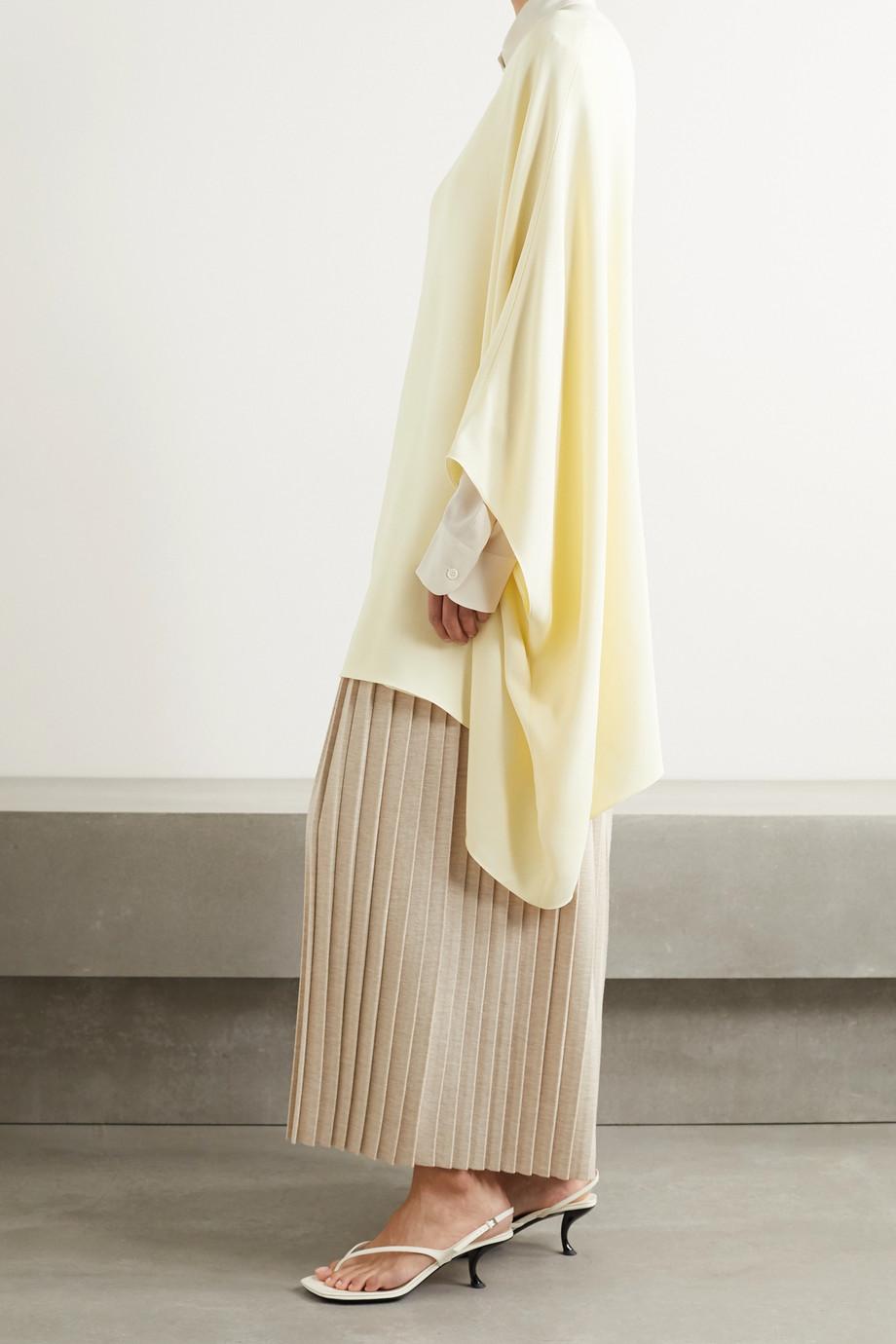The Row Estela asymmetric wool-crepe top