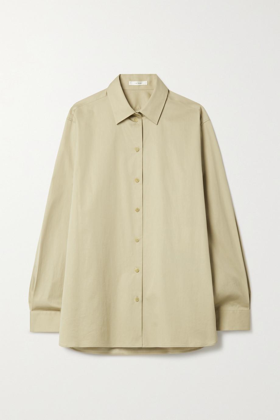 The Row Sisilia cotton-poplin shirt