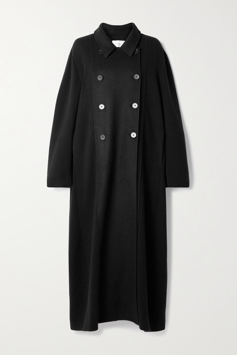 The Row Manteau oversize à double boutonnage en cachemire et en laine mélangée Cilona