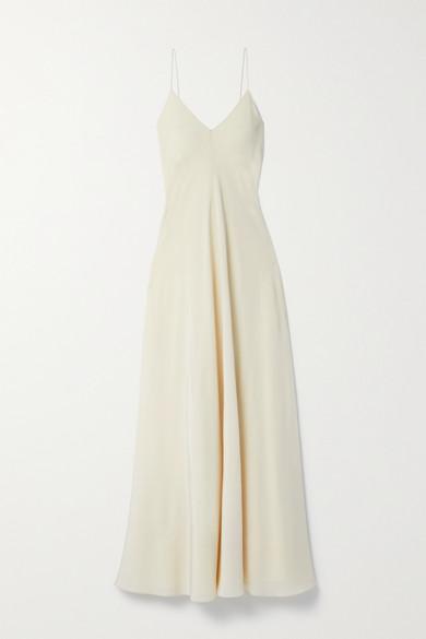 The Row - Edi Silk Crepe De Chine Maxi Dress - Cream
