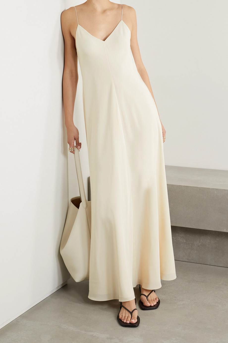 The Row Edi silk crepe de chine maxi dress