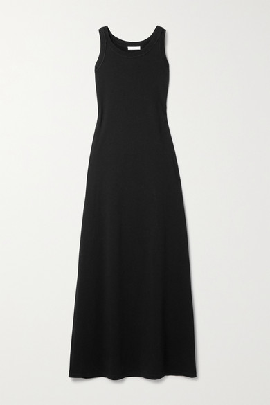 The Row Cottons ELKIE PIMA COTTON-JERSEY MAXI DRESS
