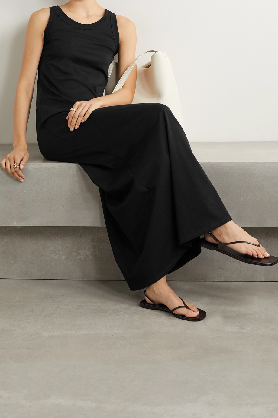 The Row Elkie Pima cotton-jersey maxi dress