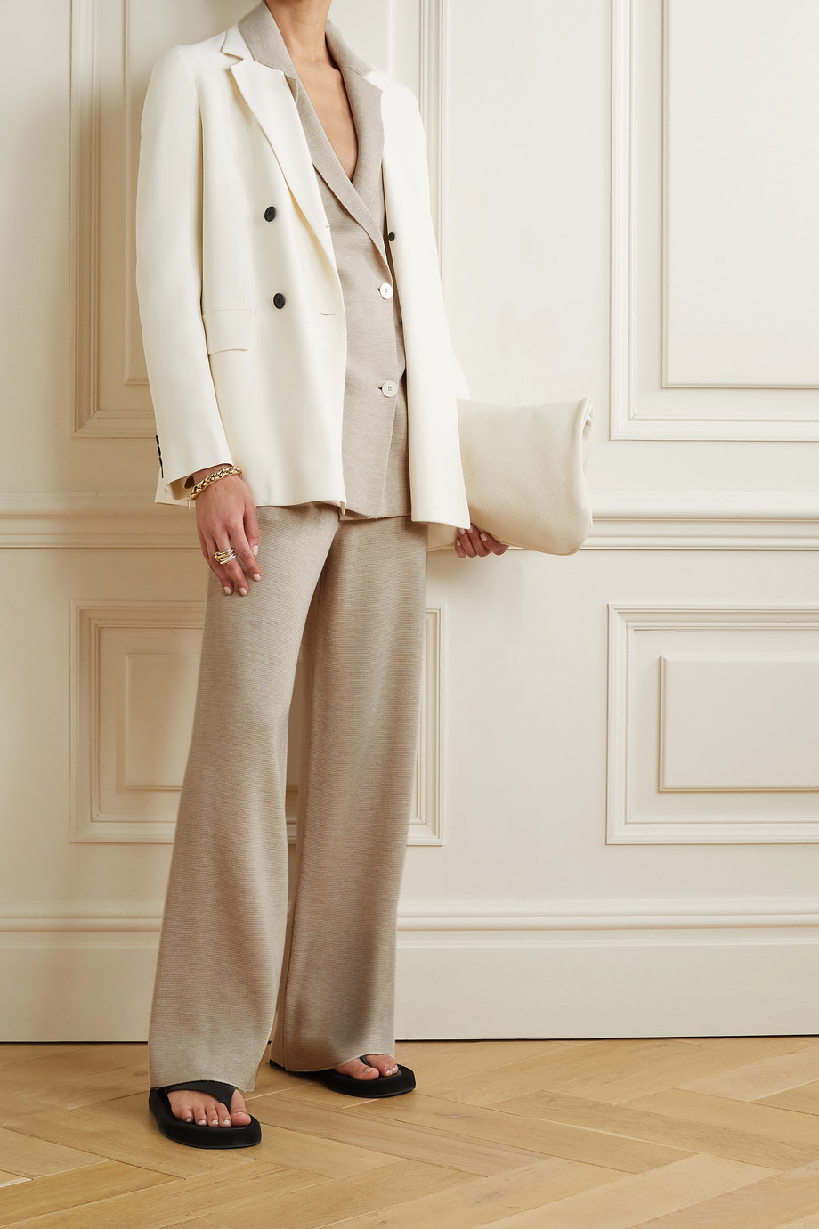 The Row Chopok oversized merino wool and silk-blend blazer
