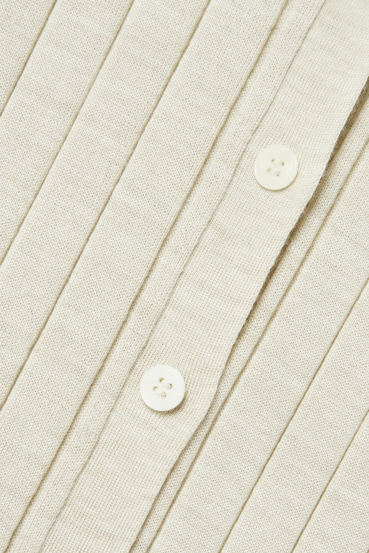 The Row Chicco gerippter Cardigan aus einer Woll-Seidenmischung